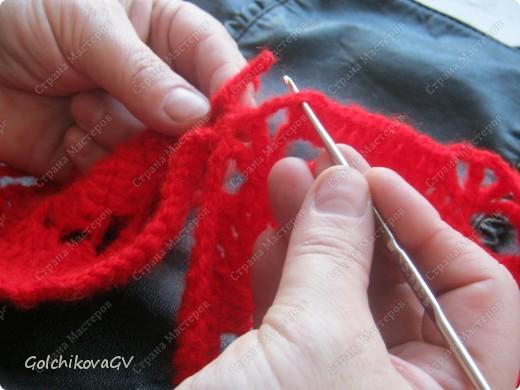 Вот и я закончила свой шарф. Мне,как всегда,  хочется чего-то своего, вот и намудрила. фото 12