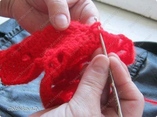 Вот и я закончила свой шарф. Мне,как всегда,  хочется чего-то своего, вот и намудрила. фото 14
