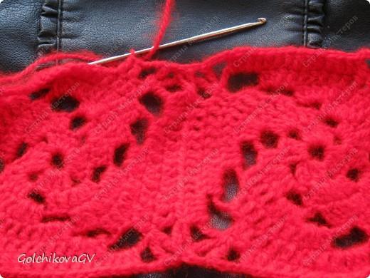 Вот и я закончила свой шарф. Мне,как всегда,  хочется чего-то своего, вот и намудрила. фото 16