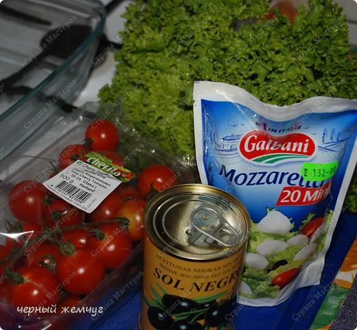 Салат с сыром Моццарелла фото 2