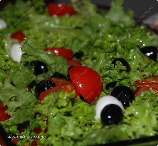 Салат с сыром Моццарелла фото 1