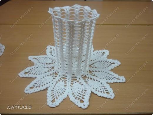 крючком ажурные вазочки