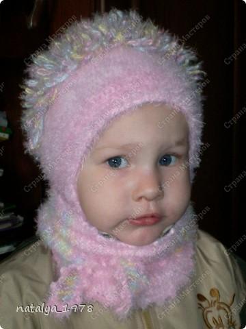 Хотела остановиться на предыдущем бактусе,но не смогла!Вязание в компании так заразительно,что я не устояла, и связала еще шарфик для дочки. фото 1