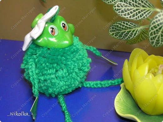 Вот такую лягушку Красочку мы сделали с дочкой. фото 2