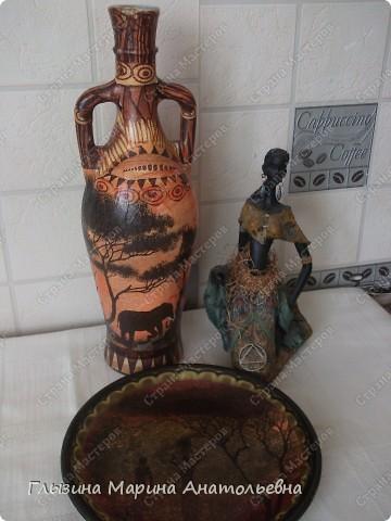 Рада всех видеть у себя в гостях. Давно мечтала  приобрести салфетки африканской тематики, и вот мечта сбылась. Использовала три вида салфеток. фото 1