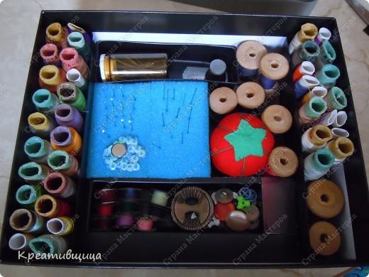 Вот такую коробочку для ниточек и иголочек я сегодня сделала))) А как давно собиралась))))... фото 6