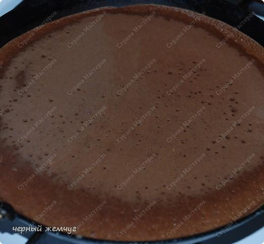 """Шоколадно-блинный торт с кремом """"Ганаш"""" фото 3"""