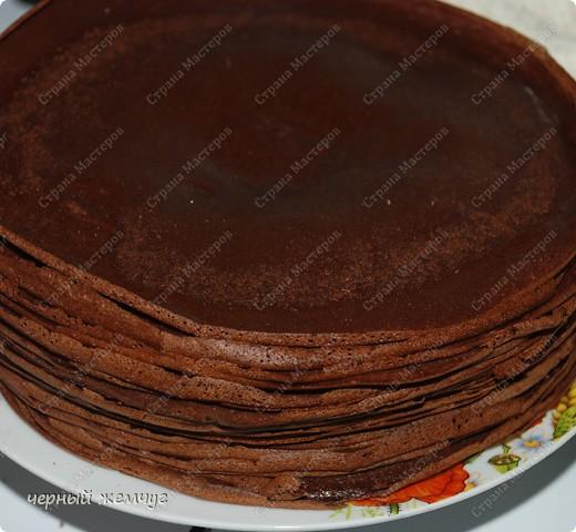 """Шоколадно-блинный торт с кремом """"Ганаш"""" фото 4"""