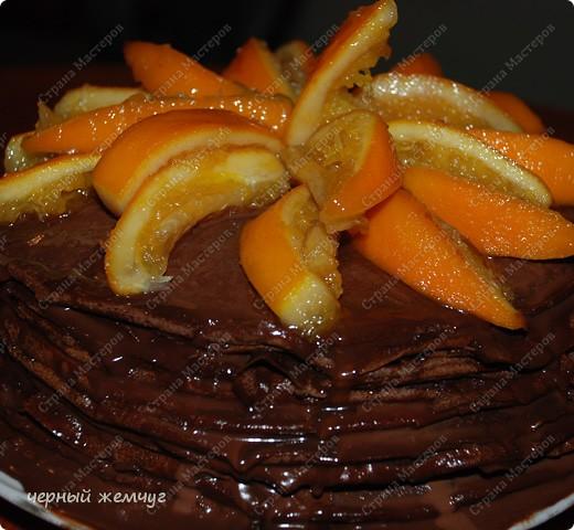 """Шоколадно-блинный торт с кремом """"Ганаш"""" фото 11"""