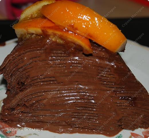 """Шоколадно-блинный торт с кремом """"Ганаш"""" фото 12"""
