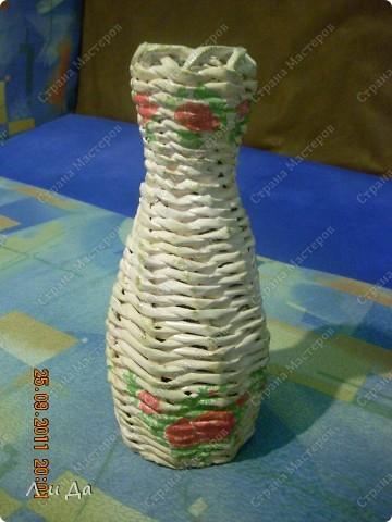 Понравилось делать вазы из бутылок с широким горлышком. фото 3