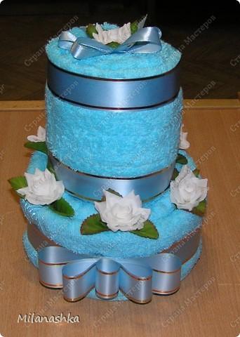 Полотеничный тортик фото 1