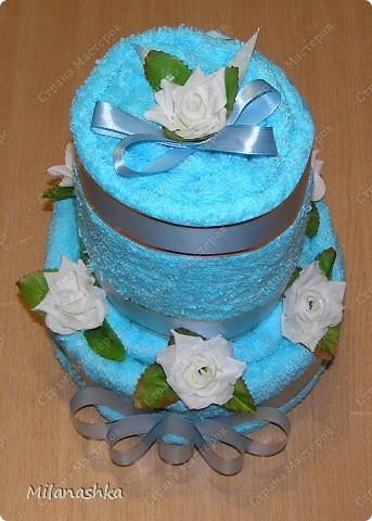 Полотеничный тортик фото 2