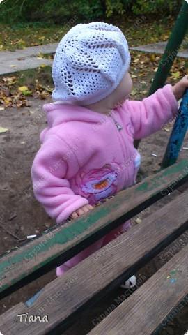 Вот так выглядит беретик на дочке. фото 2