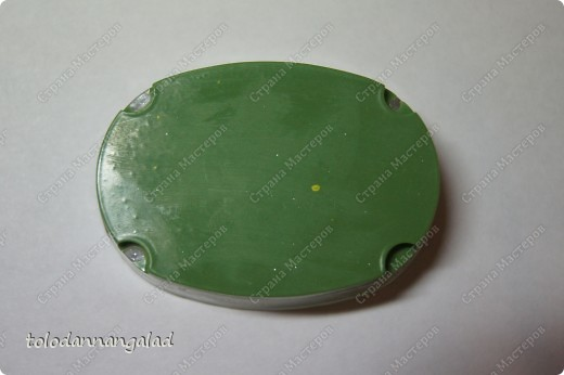 """А это мыло с чем-то вроде """"водорослей"""" внутри =) Состав: - основа белая - основа прозрачная - блестки - отдушка """"Зеленое яблоко"""" - красители черный, синий, желтый фото 3"""
