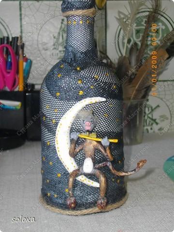 Чертик сделан из холодного фарфора на каркасе.  фото 1