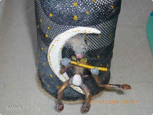 Чертик сделан из холодного фарфора на каркасе.  фото 2