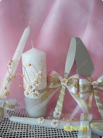 """Вот такой свадебный наборчик у меня вышел. Назвала его """"Ромашковая любовь""""))) фото 1"""