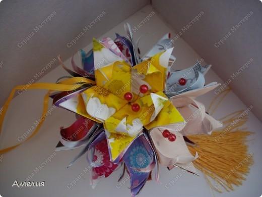 Кусудама Fleur-de-Lis фото 3