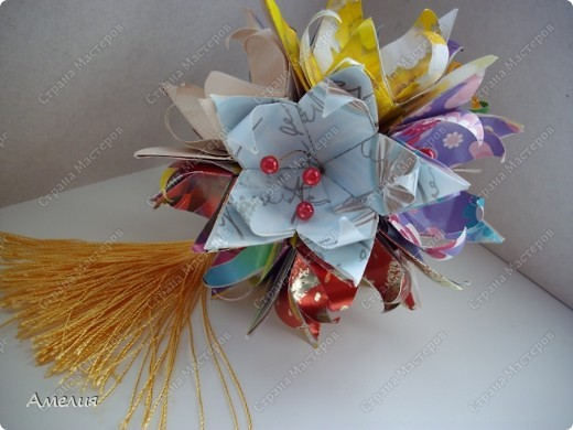 Кусудама Fleur-de-Lis фото 4