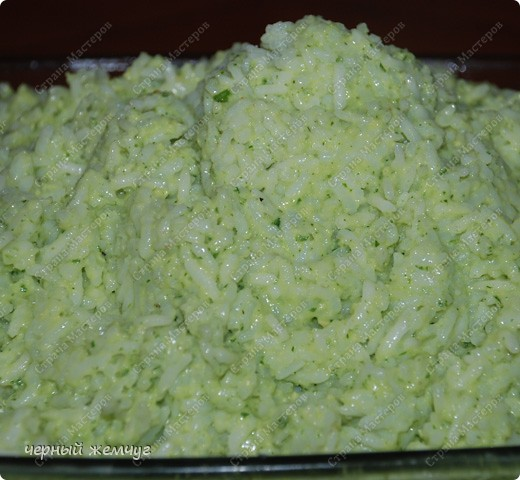 Зеленый рис с куриными крылышками фото 6