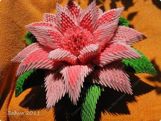 Лилия - модульное оригами фото 6