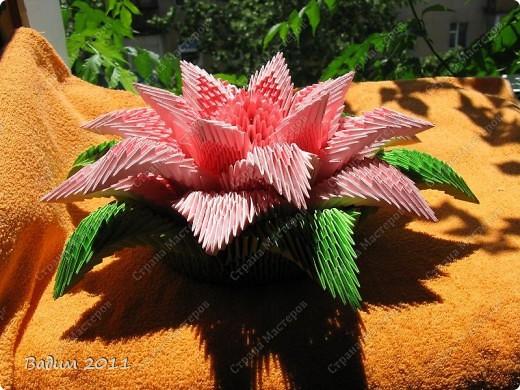Лилия - модульное оригами фото 7