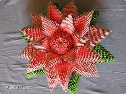 Лилия - модульное оригами фото 9