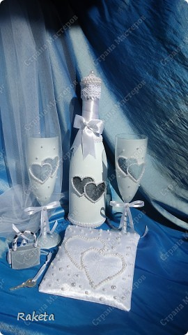 Одна моя приятельница  заказала мне свадебный набор для своей подруги из Волгограда.  фото 16