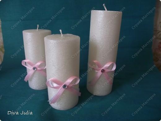 Второй свадебный набор (бутылки, бокалы, подушечка, свечи, альбом, рамка) фото 4