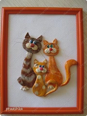 Это мои первые котики, сделаны из самозатвердевающей массы, насмотрелась на работы Марины Архиповой (спасибо ей большое !!!!!!)  фото 1