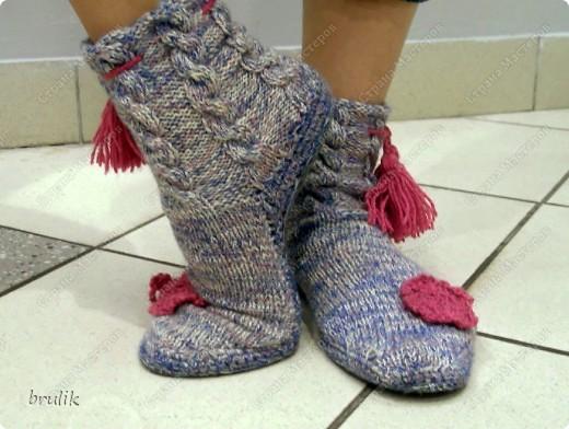 Носки с подошвой для дома фото 3