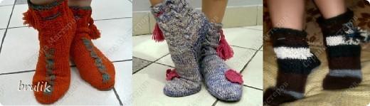 Носки с подошвой для дома фото 1