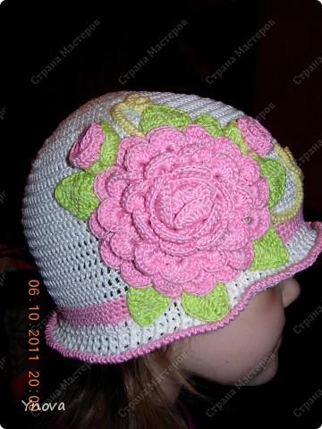 Увидела в журнале эту шапочку и влюбилась!! Связалась она за 2 дня.  фото 3