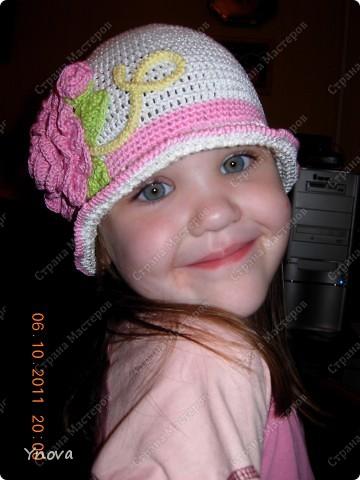 Увидела в журнале эту шапочку и влюбилась!! Связалась она за 2 дня.  фото 4