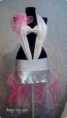 """Вот несколько платьев для танцев  латиноамериканской программы. Это платье немного украшено канзаши, по юбке бахрома( """"лапша"""" - так ее танцоры называют) фото 3"""