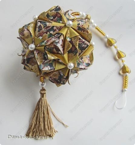 Кусудама Selene М. Синайской. Вдохновила меня на создание этой кусудамы Марина5 своей очень красивой кусудамой http://stranamasterov.ru/node/239918 фото 2