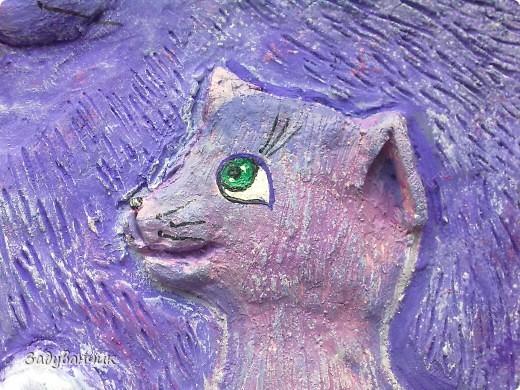 """Панно """"Цветочная кошка"""" фото 6"""