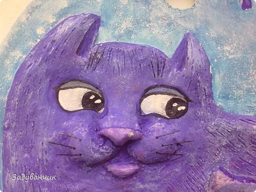 """Панно """"Цветочная кошка"""" фото 8"""