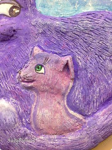 """Панно """"Цветочная кошка"""" фото 7"""