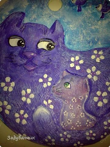 """Панно """"Цветочная кошка"""" фото 3"""