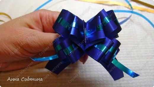 Красивые упаковочные бантики своими руками будут отличным дополнением к вашему подарку. И не нужно идти в магазин) фото 23