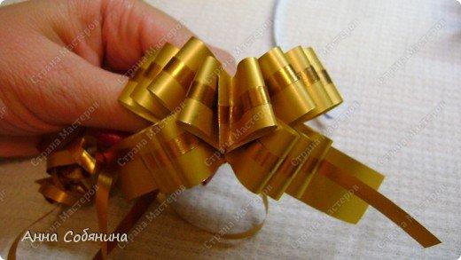Красивые упаковочные бантики своими руками будут отличным дополнением к вашему подарку. И не нужно идти в магазин) фото 24