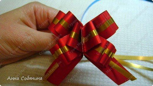 Красивые упаковочные бантики своими руками будут отличным дополнением к вашему подарку. И не нужно идти в магазин) фото 25