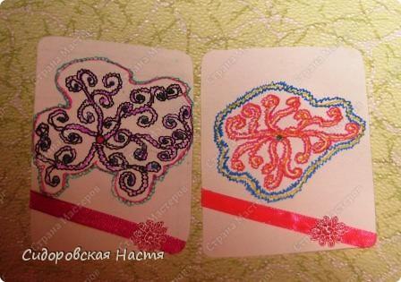 На такую серию меня вдохновила моя подруга из седьмого класса Жукова Кристина. Она любит рисовать такие узоры. Половину узоров сделала я, половину Кристина. Первая выбирает Дарёнка, если понравится. фото 3