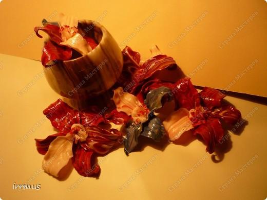 лепные цветы поверх заколки,для скрепления промазанной перед работой и обжигом клеем ПВА фото 8