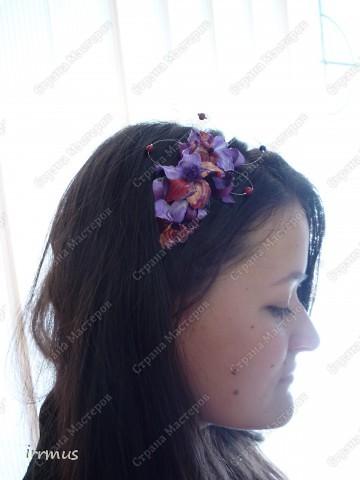 лепные цветы поверх заколки,для скрепления промазанной перед работой и обжигом клеем ПВА фото 9