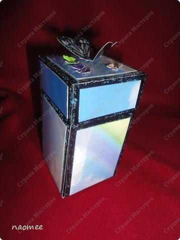 Моя первая коробочка с сюрпризом. Делала по мастер-классу из интернета, а теперь не могу найти ссылку. фото 1