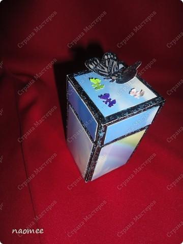 Моя первая коробочка с сюрпризом. Делала по мастер-классу из интернета, а теперь не могу найти ссылку. фото 2