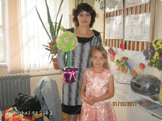 Подарили деревце любимой учительнице на День учителя! фото 1